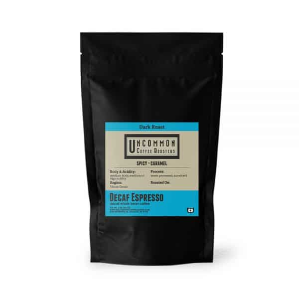 12 oz. Decaf Espresso coffee bag