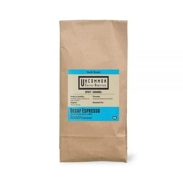 2 lbs. Decaf Espresso coffee bag