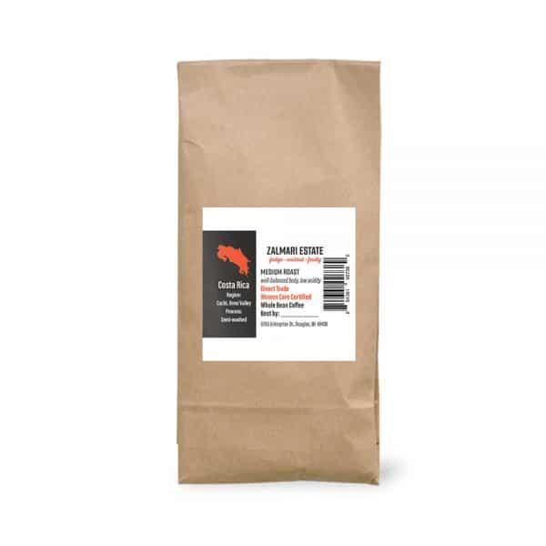 2 lbs. Zalmari Estate coffee bag
