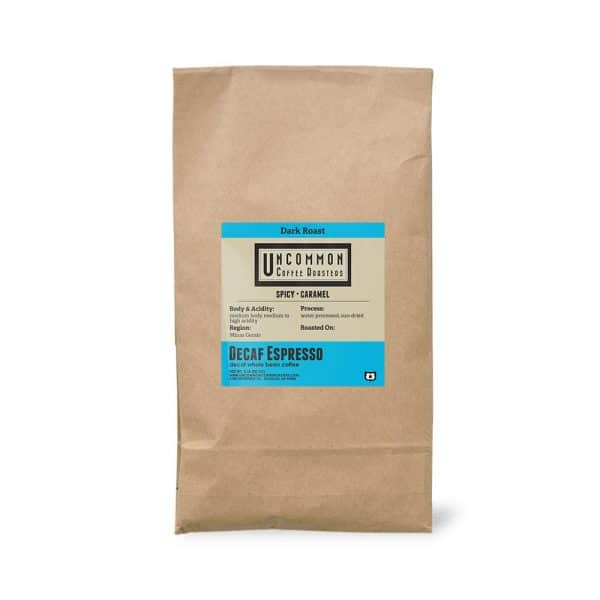 5 lbs. Decaf Espresso coffee bag