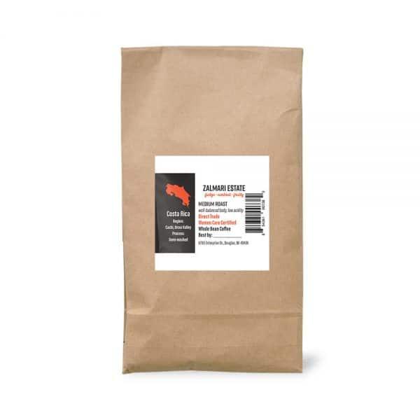 5 lbs. Zalmari Estate coffee bag
