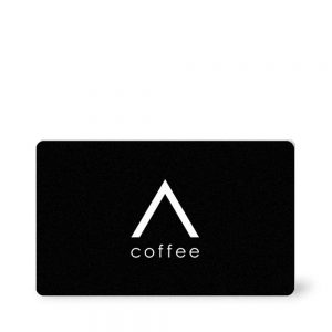 Front view of Elevate Coffee gift card