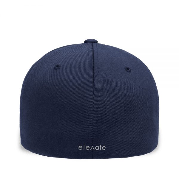 Back view of Elevate Coffee fitted baseball cap