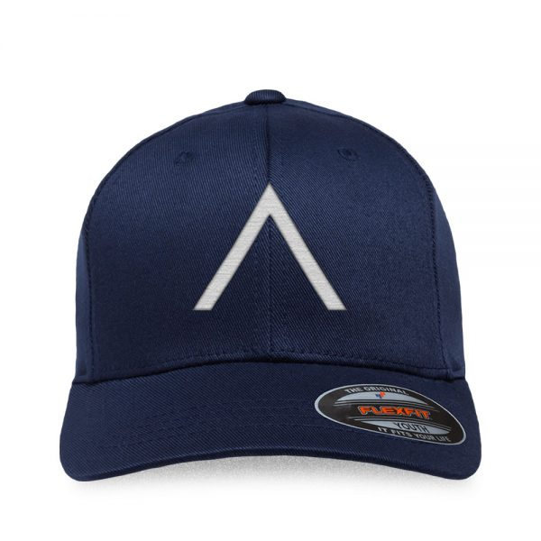 Front view of Elevate Coffee fitted baseball cap