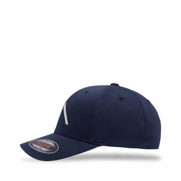 Left view of Elevate Coffee fitted baseball cap