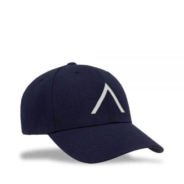 Angle view of Elevate Coffee snapback baseball cap