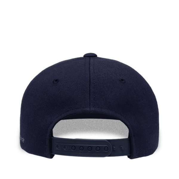 Back view of Elevate Coffee snapback baseball cap