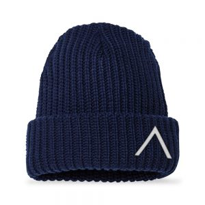 Front view of Elevate Coffee chunky knit beanie