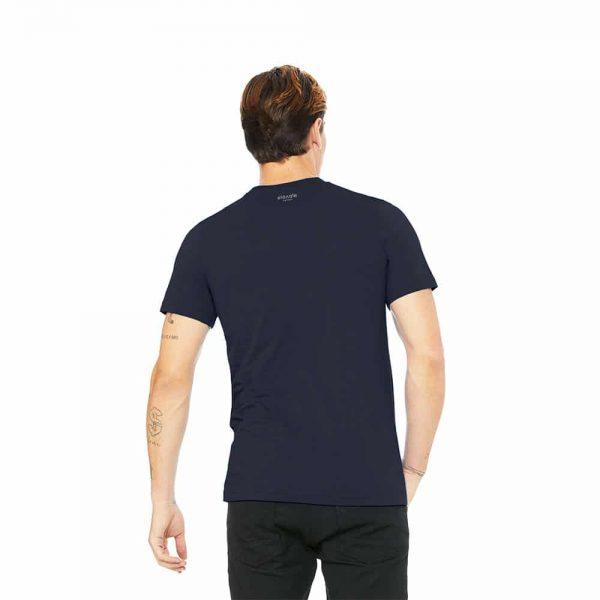 Back view of Elevate Coffee crew neck shirt