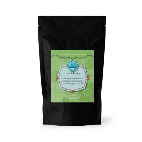 100g bag of Peach Oasis green tea