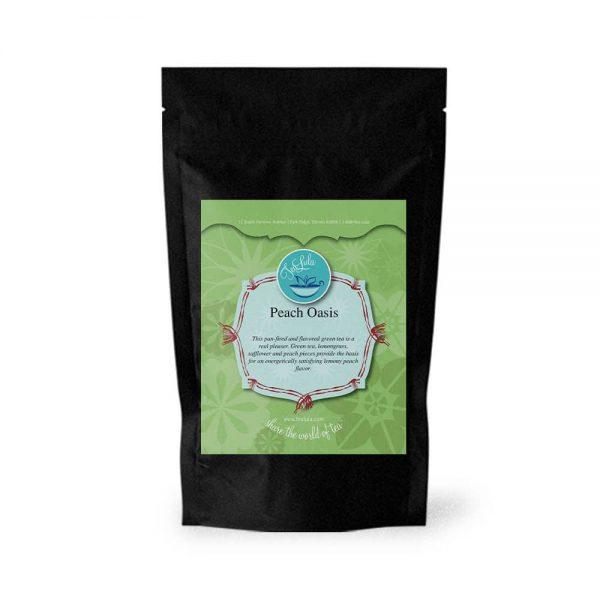50g bag of Peach Oasis green tea